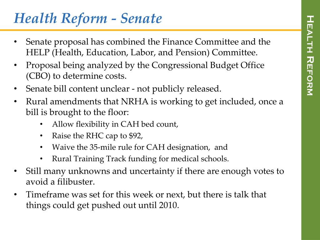 Health Reform - Senate
