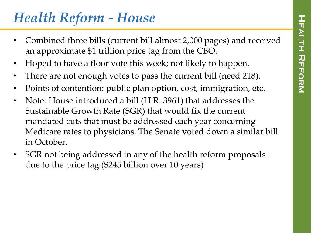Health Reform - House