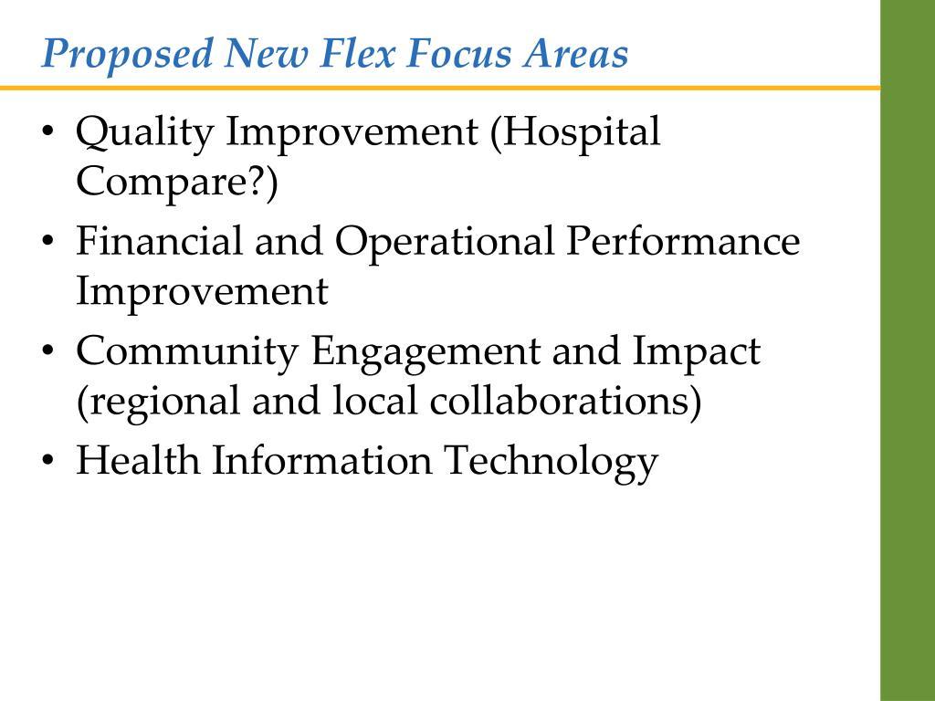 Proposed New Flex Focus Areas