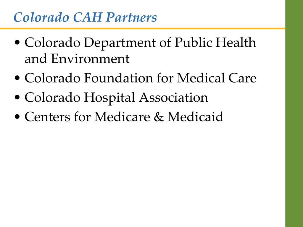 Colorado CAH Partners