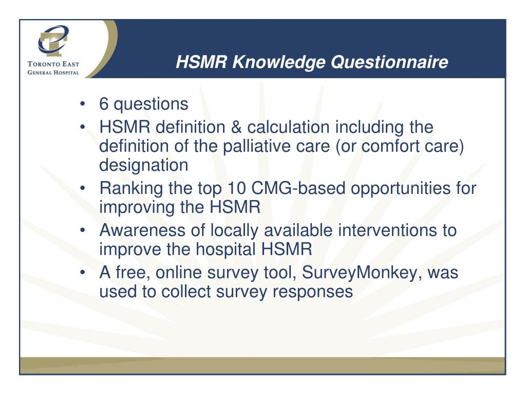 HSMR Knowledge Questionnaire