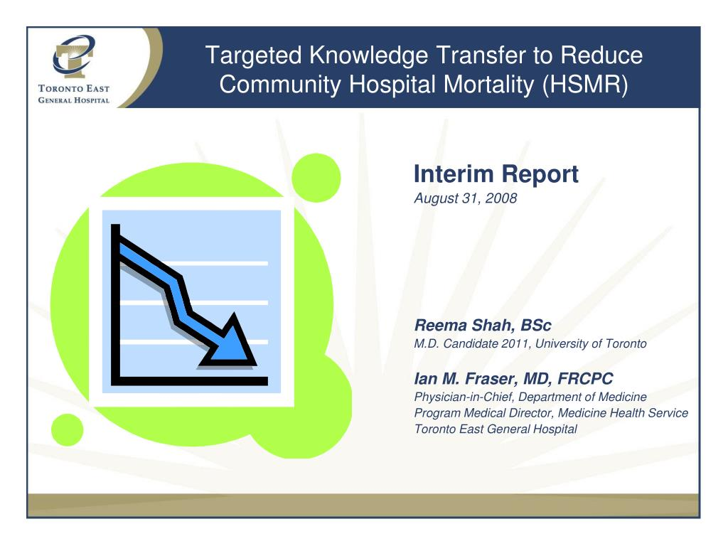 Targeted Knowledge Transfer to Reduce Community Hospital Mortality (HSMR)