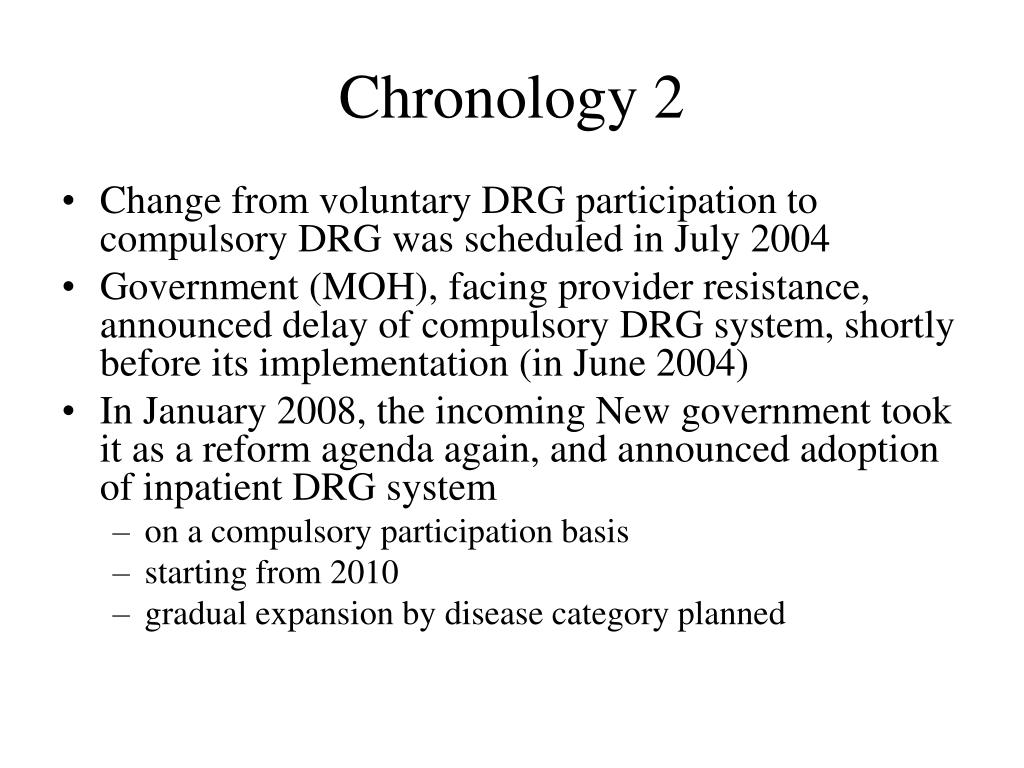 Chronology 2