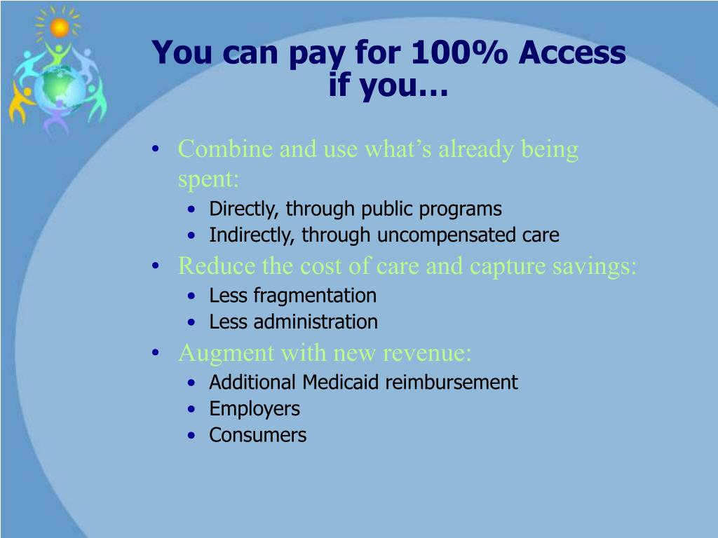 You can pay for 100% Access if you…