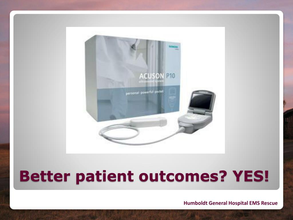 Better patient outcomes? YES!