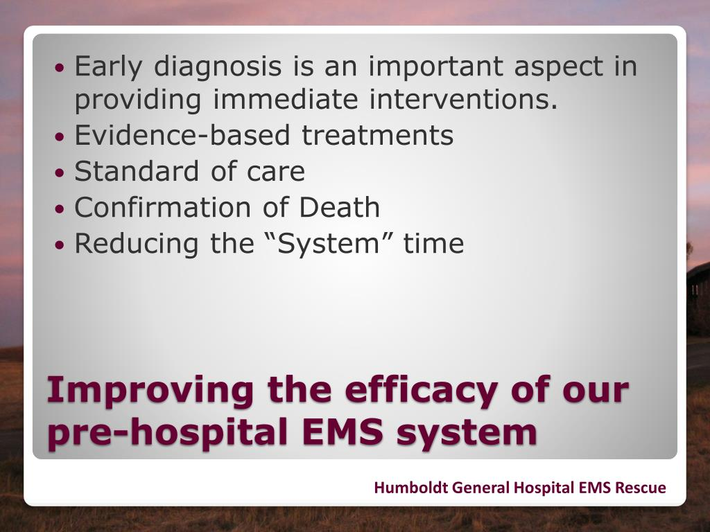 Early diagnosis is an important aspect in providing immediate interventions.