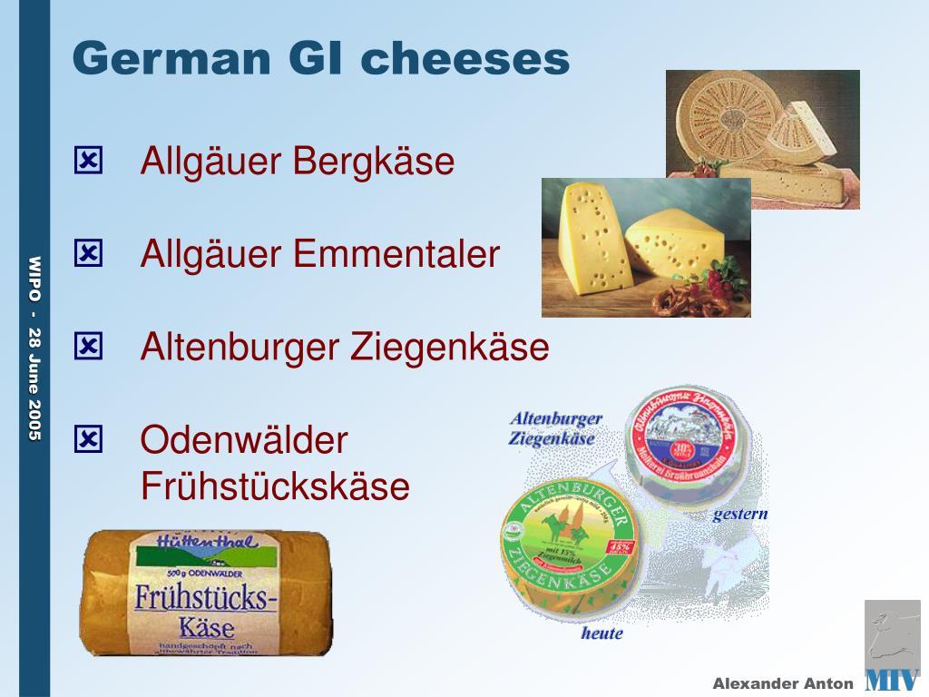 German GI cheeses