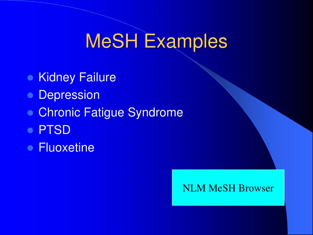MeSH Examples