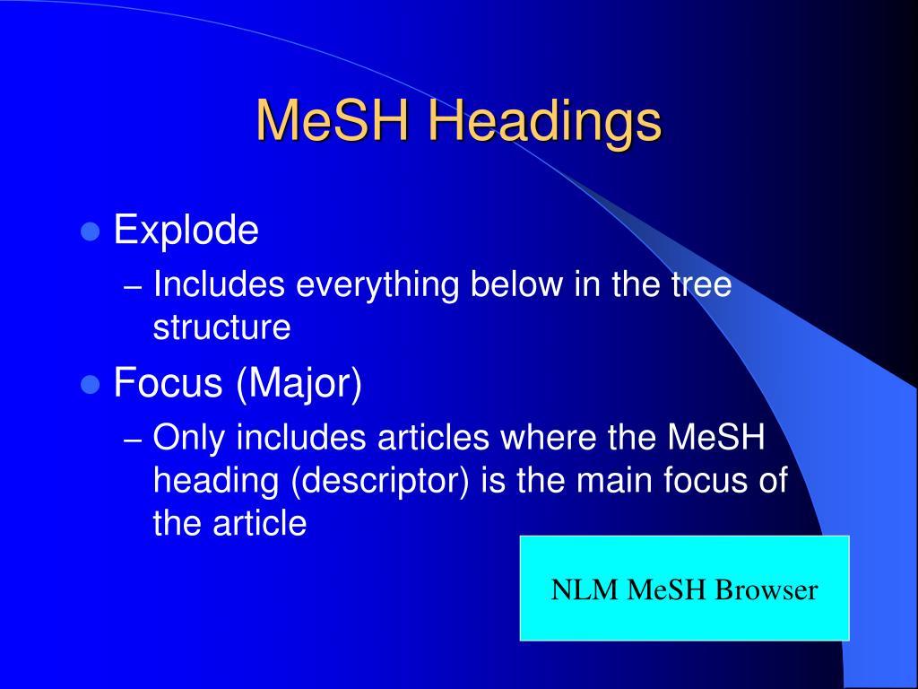 MeSH Headings