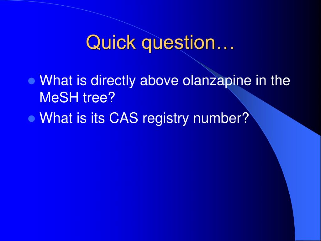 Quick question…