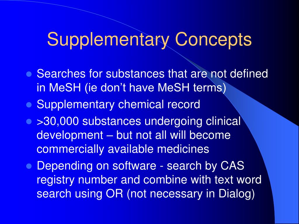 Supplementary Concepts