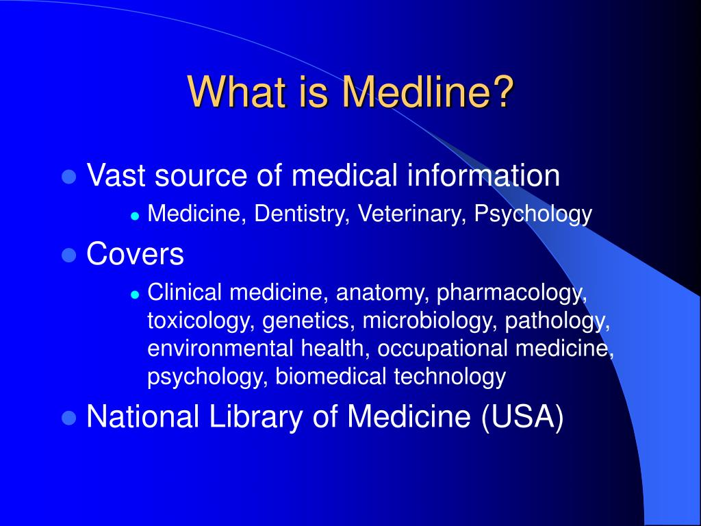 What is Medline?