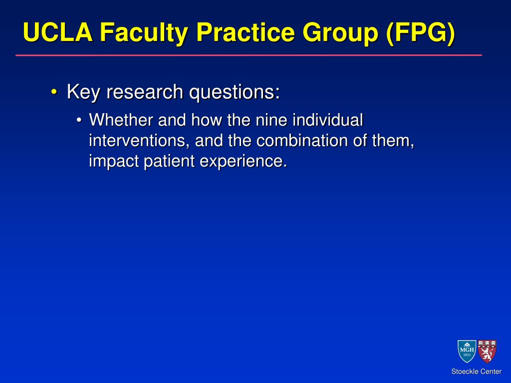 UCLA Faculty Practice Group (FPG)