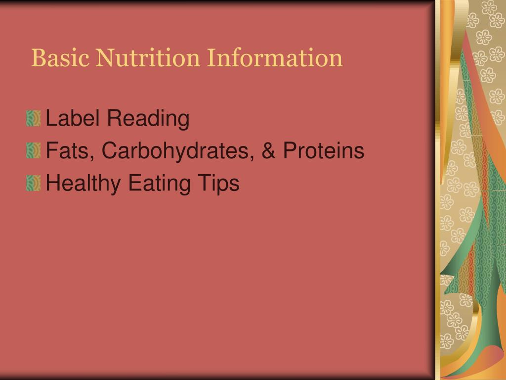 Basic Nutrition Information