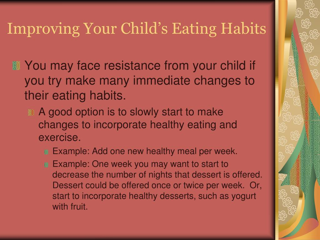 Improving Your Child's Eating Habits