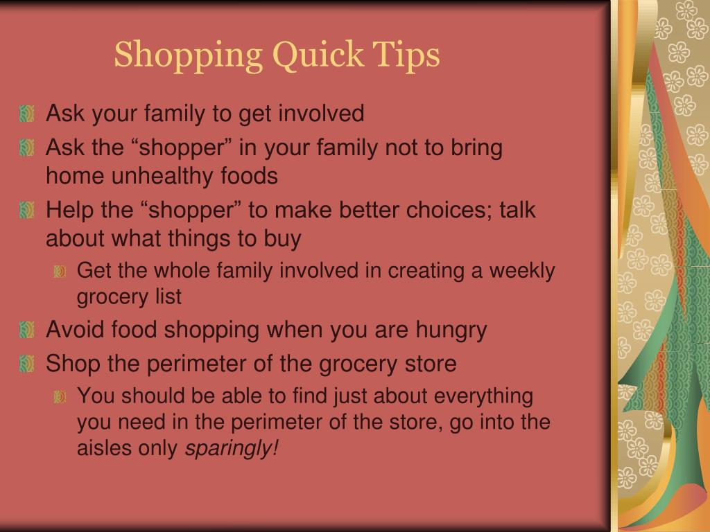Shopping Quick Tips