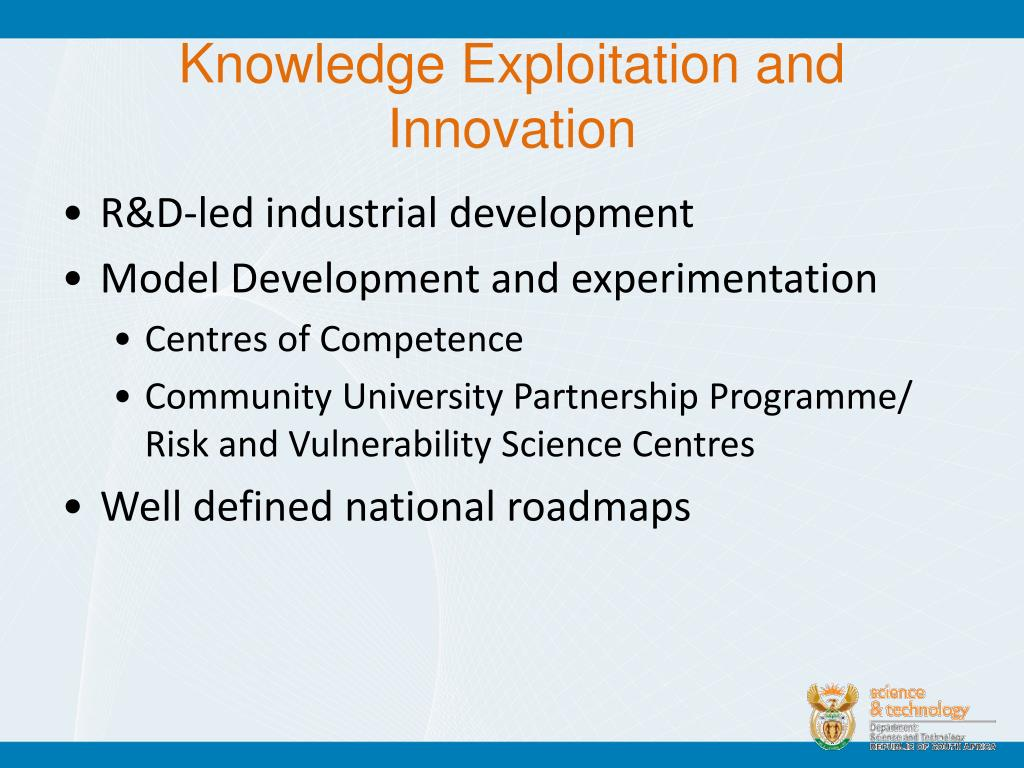 Knowledge Exploitation and Innovation
