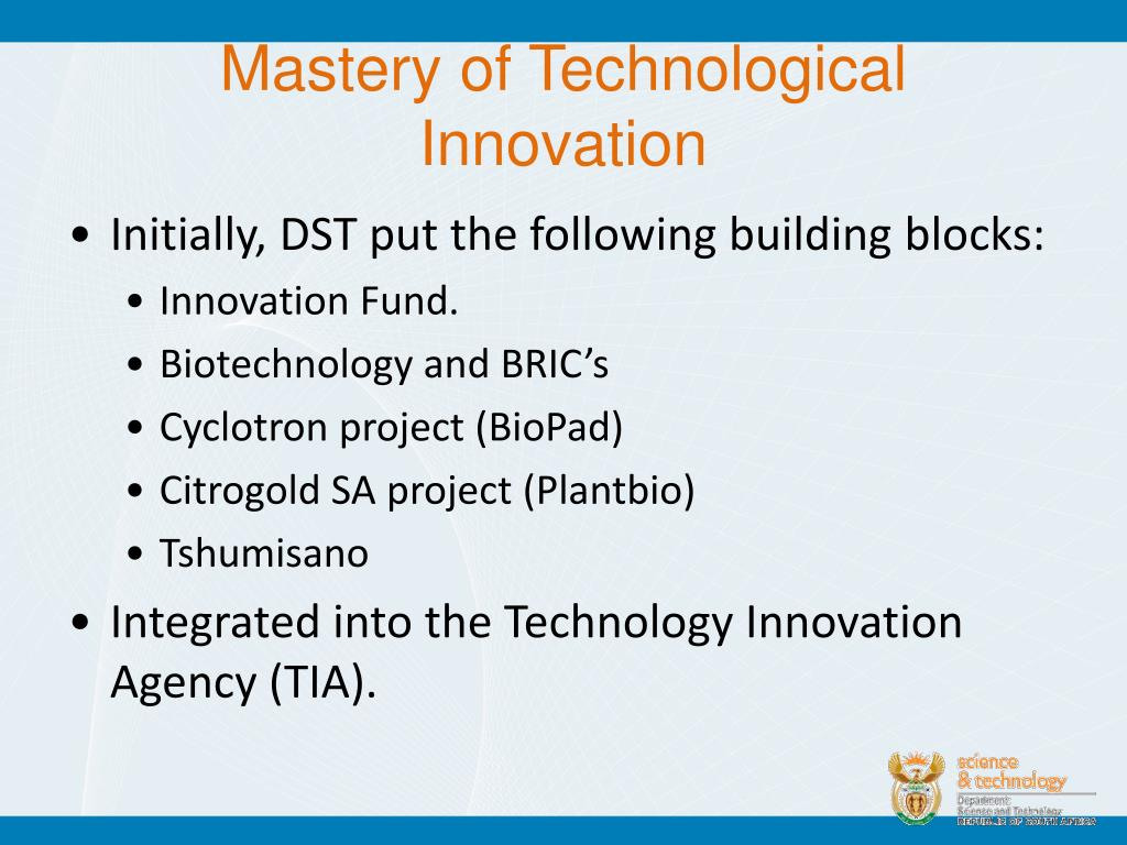 Mastery of Technological Innovation