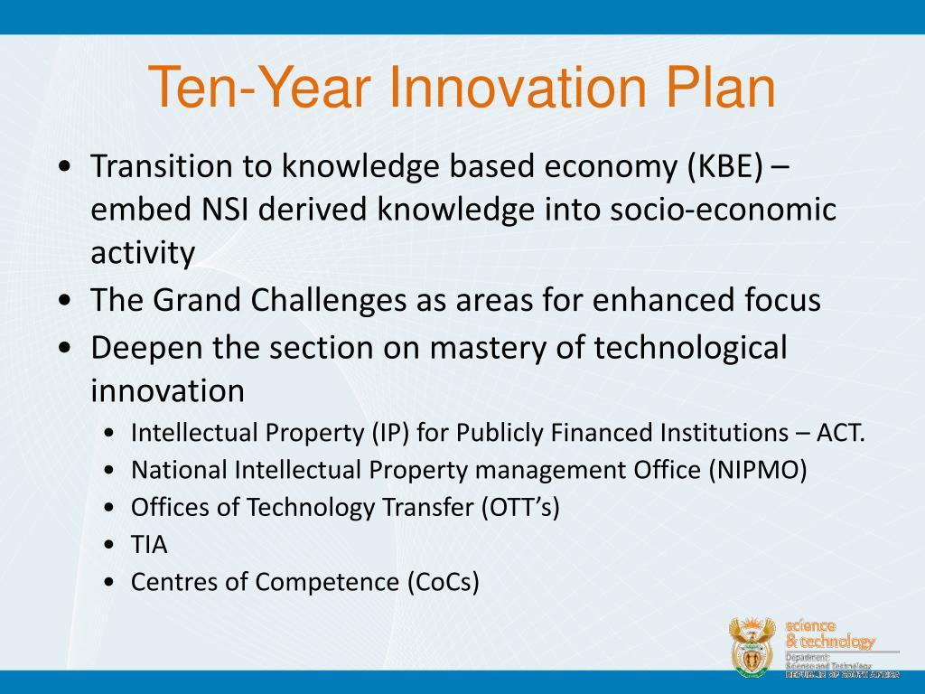Ten-Year Innovation Plan