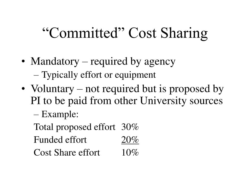 """""""Committed"""" Cost Sharing"""
