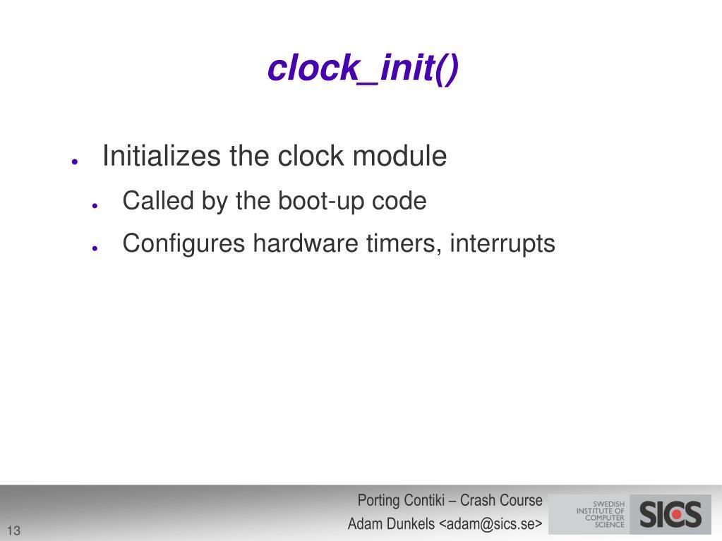 clock_init()