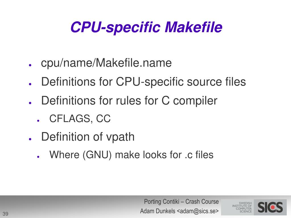 CPU-specific Makefile