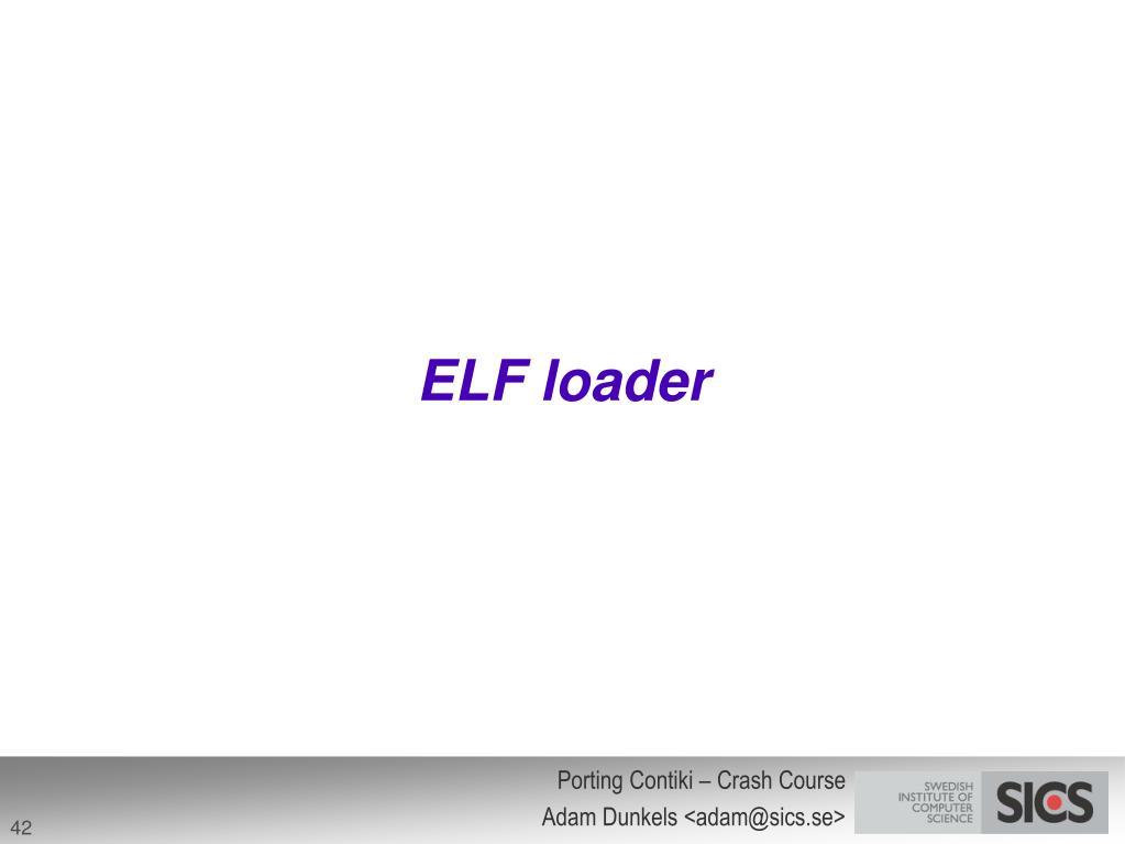 ELF loader