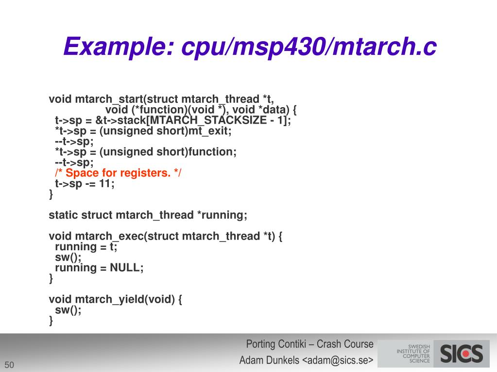 Example: cpu/msp430/mtarch.c