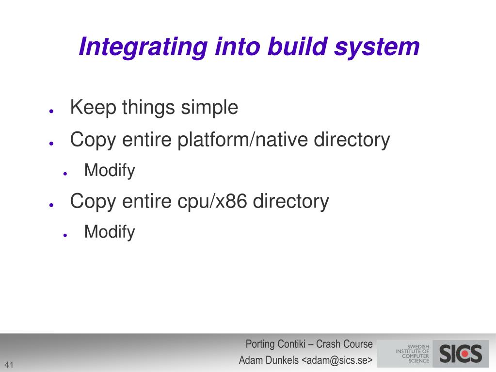Integrating into build system