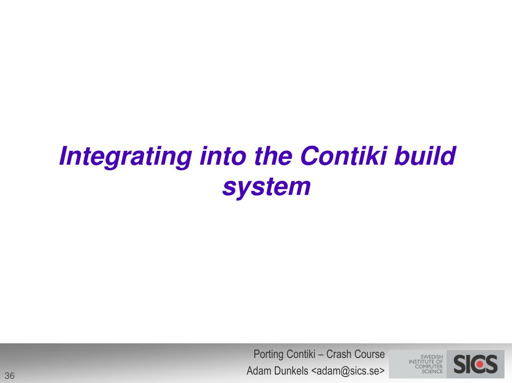 Integrating into the Contiki build system