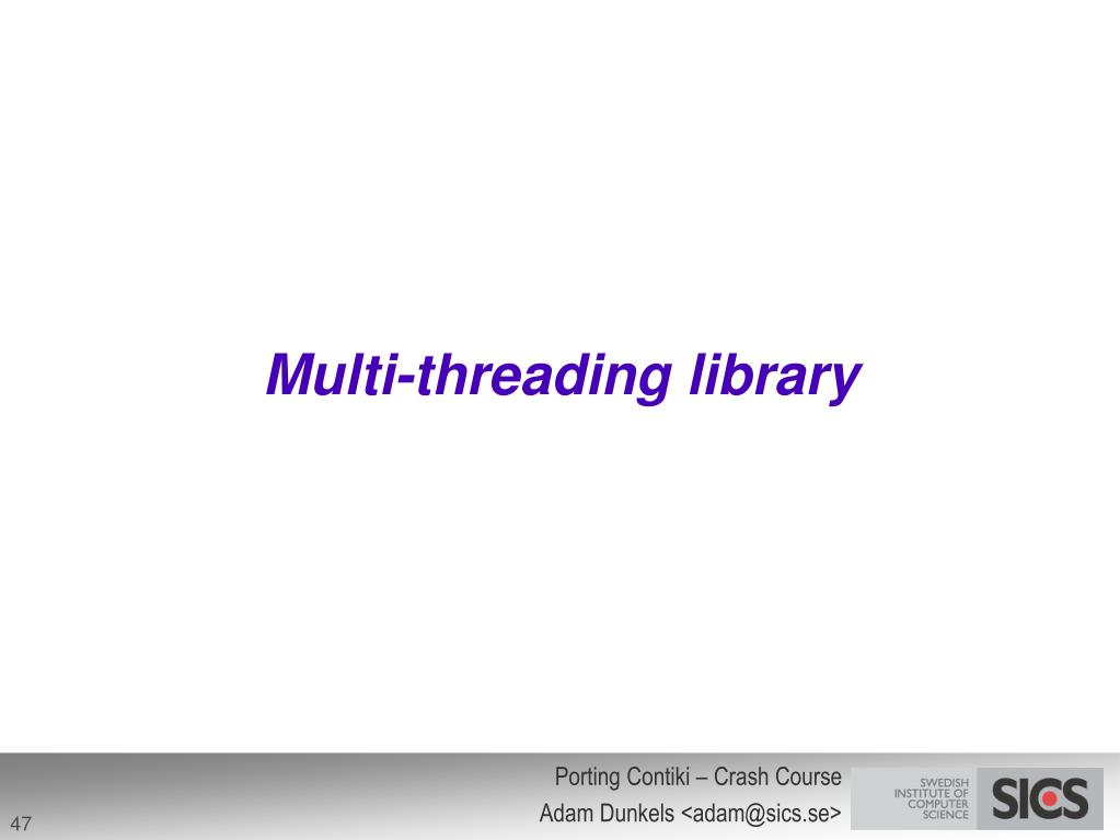 Multi-threading library
