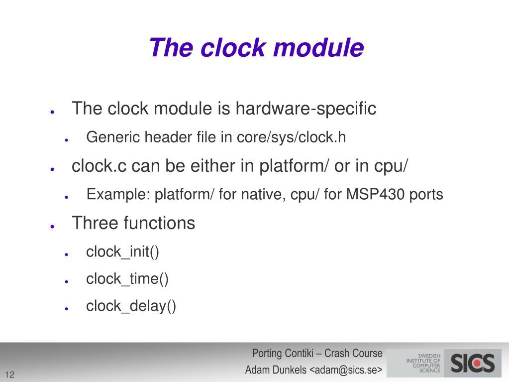The clock module