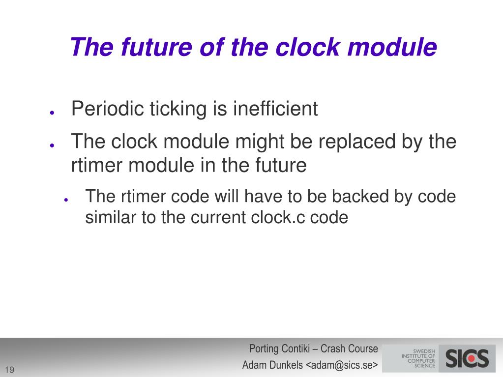 The future of the clock module