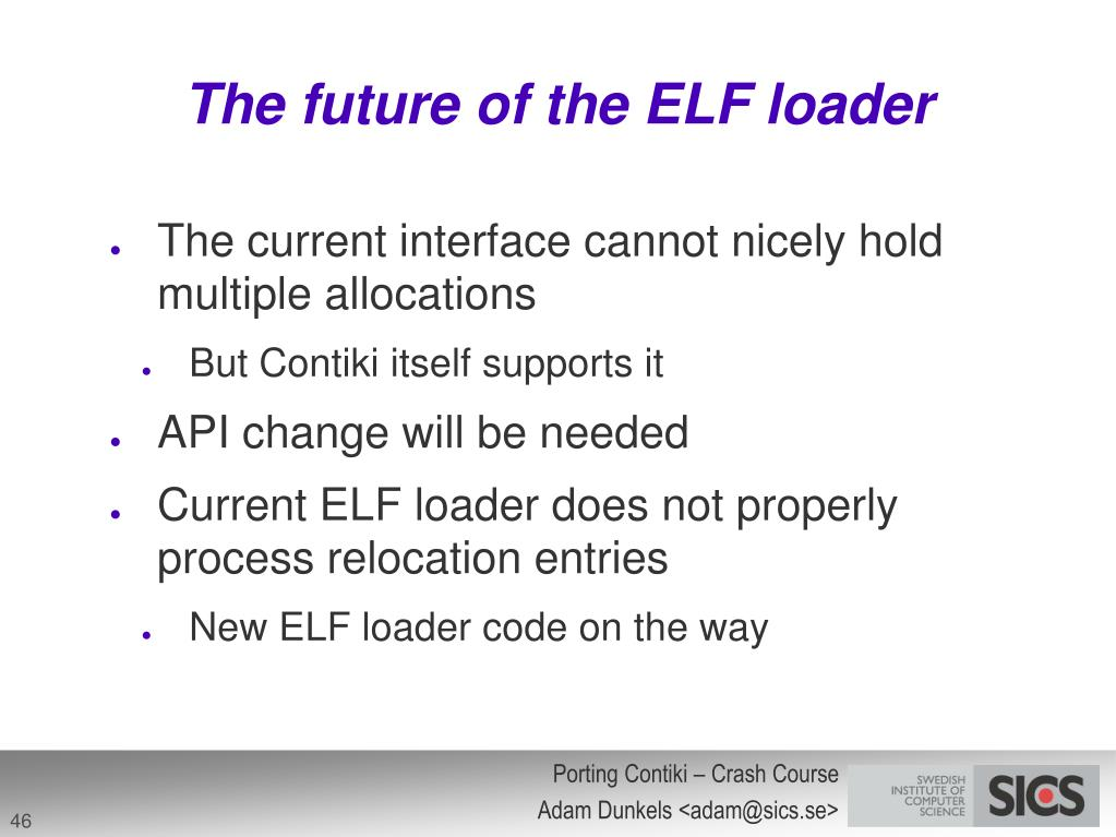 The future of the ELF loader