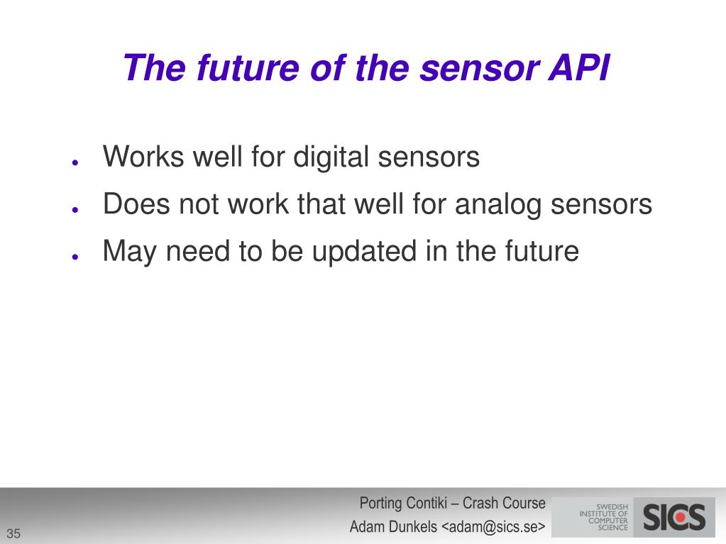 The future of the sensor API