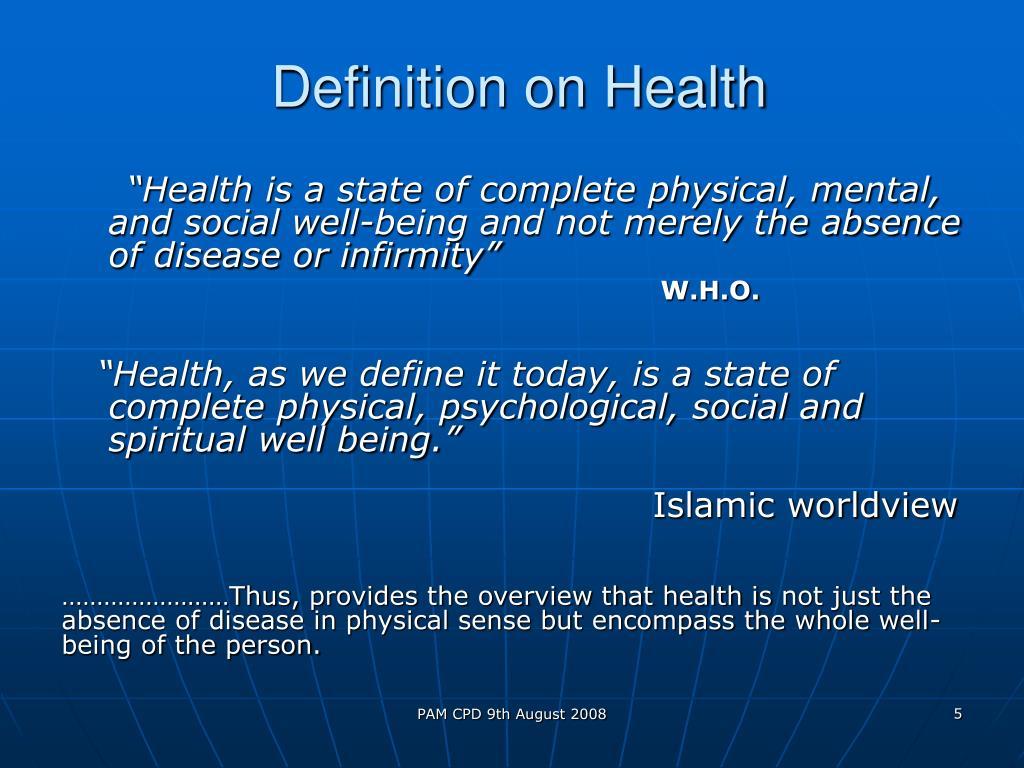 Definition on Health