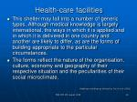 health care facilities19