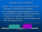 health care facilities20