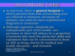 secondary care