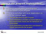 how is the program implemented12
