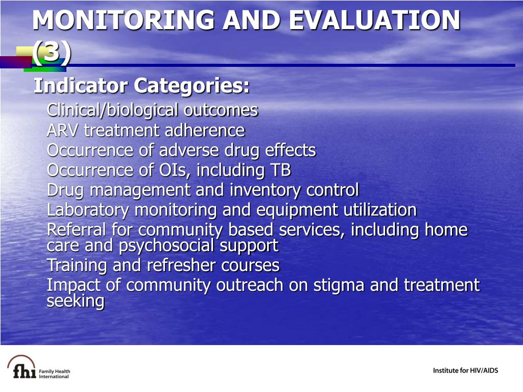 MONITORING AND EVALUATION (3)
