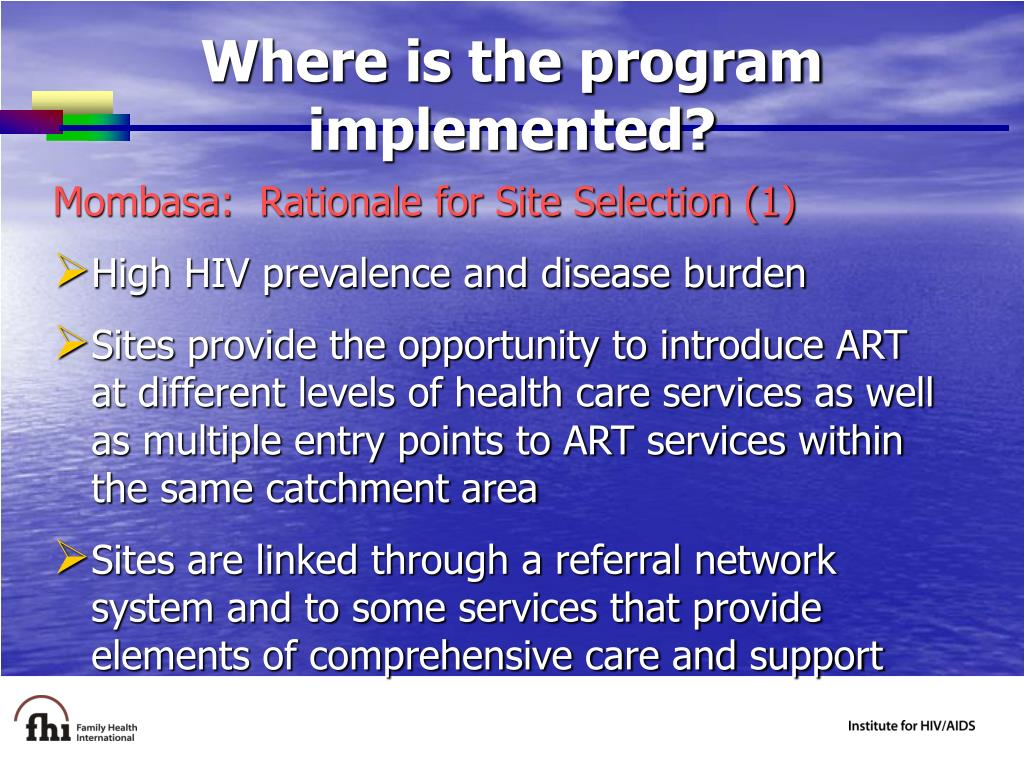 Where is the program implemented?