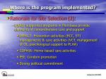where is the program implemented10