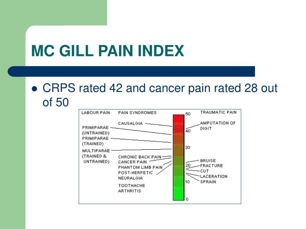 MC GILL PAIN INDEX