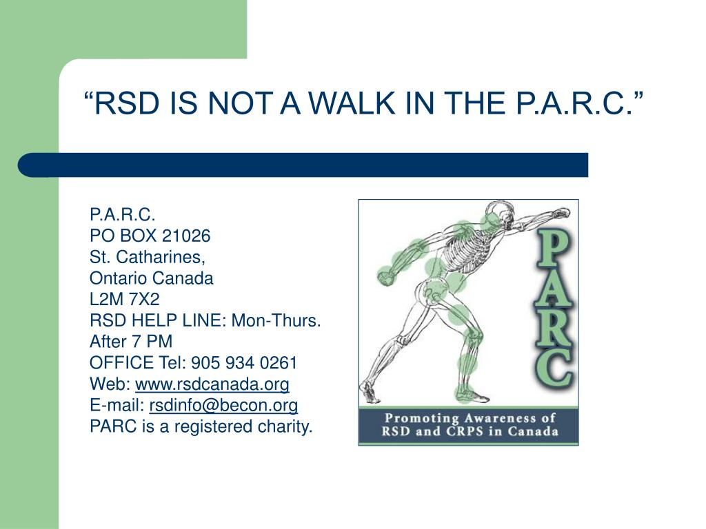 """RSD IS NOT A WALK IN THE P.A.R.C."""