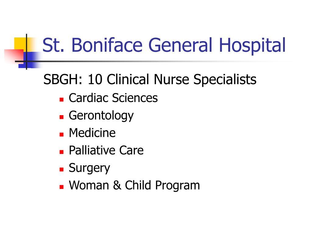 St. Boniface General Hospital