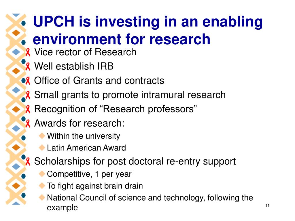 UPCH is investing in an enabling environment for research
