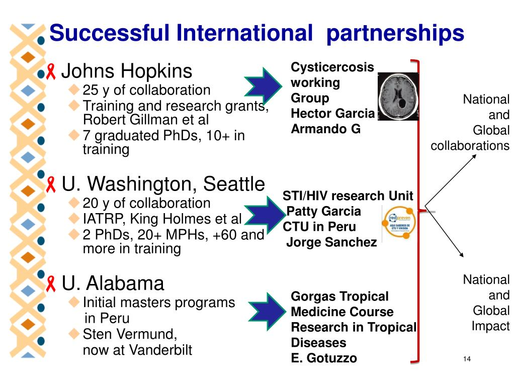 Successful International  partnerships