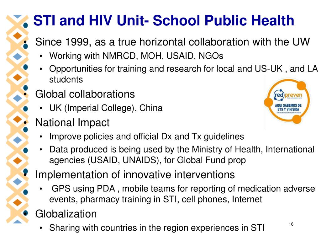 STI and HIV Unit- School Public Health