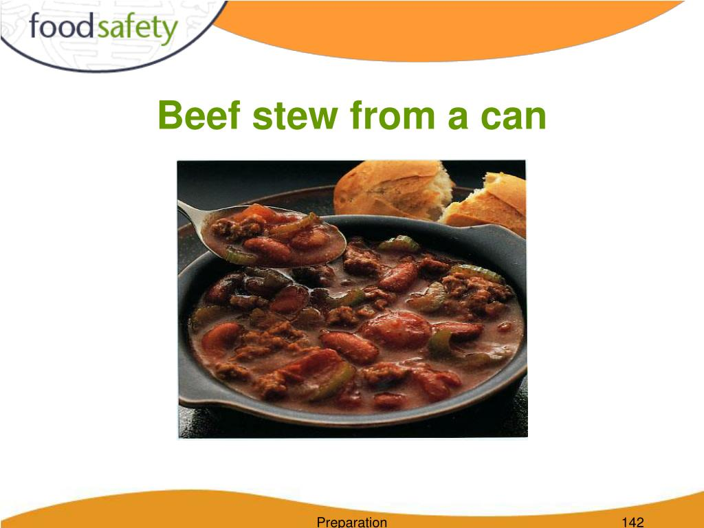 Beef stew from a can